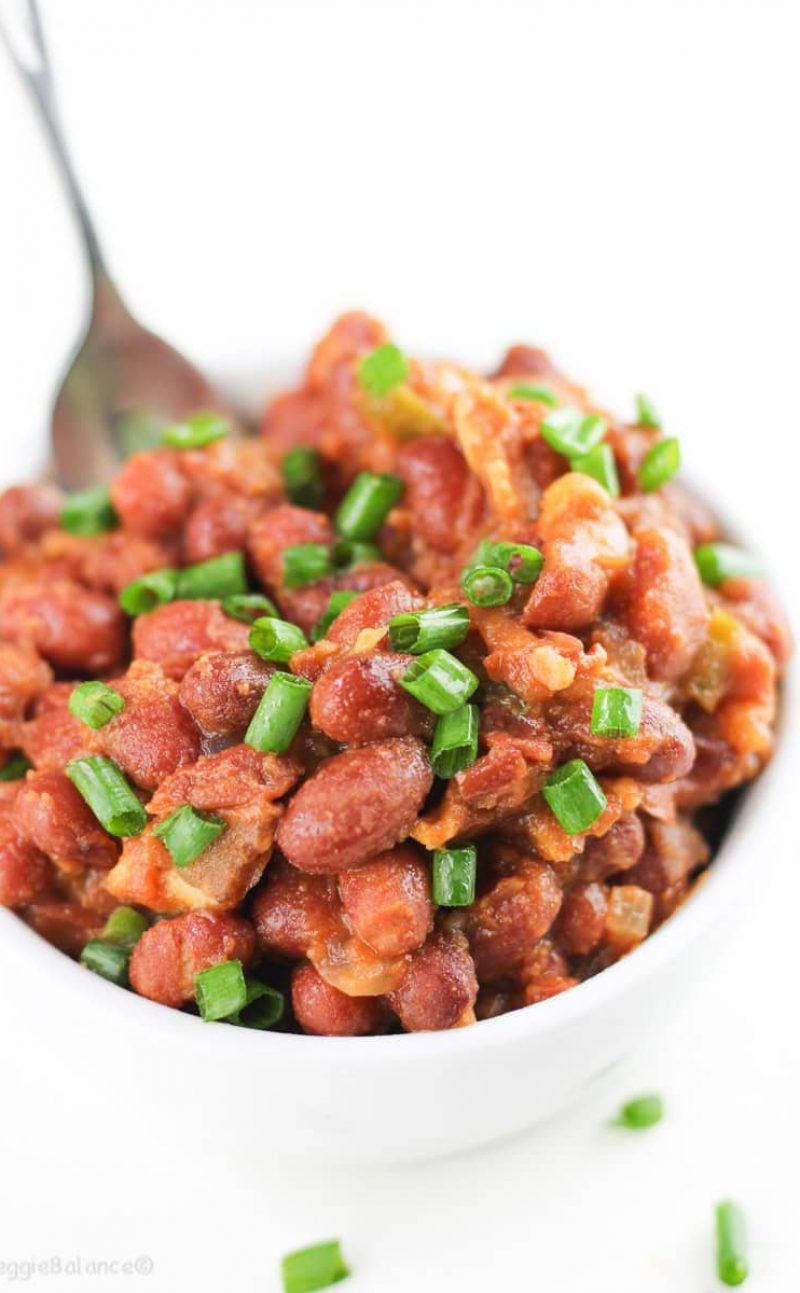 Easy Crockpot Baked Beans Made Healthier