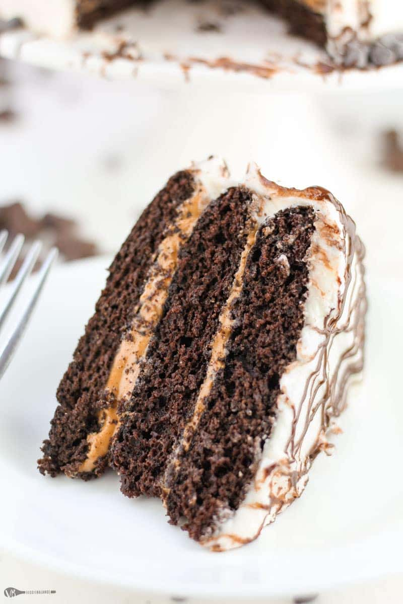 Gluten-Free Chocolate Cake Recipe Three Layer Peanut Butter Chocolate Dairy-Free Vegan