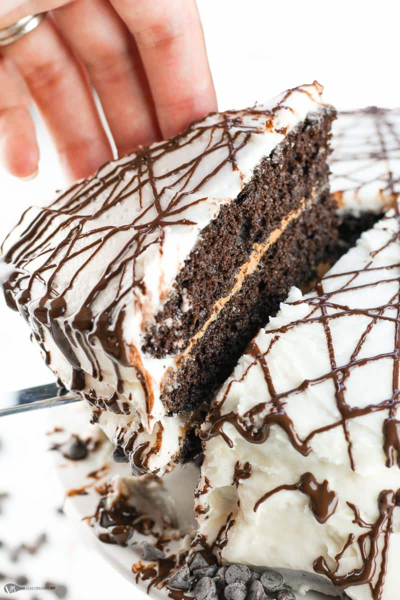 Gluten-Free Chocolate Cake Recipe Three Layer Peanut Butter Chocolate Dairy-Free Vegan