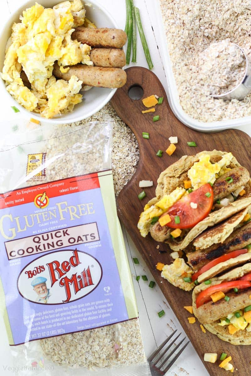 Oatmeal Pancake Recipe for Breakfast Tacos Healthy Gluten-Free Dairy-Free - Veggiebalance.com
