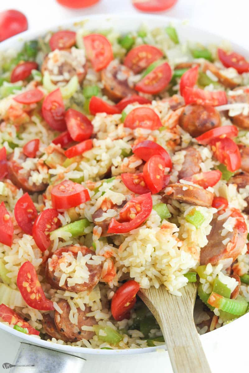 Quick Jambalaya Recipe made in Under 30 Minutes Gluten-Free Dairy-Free - Veggiebalance.com