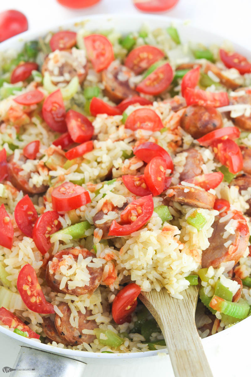 Quick Jambalaya Recipe made in Under 30 Minutes Gluten-Free Dairy-Free