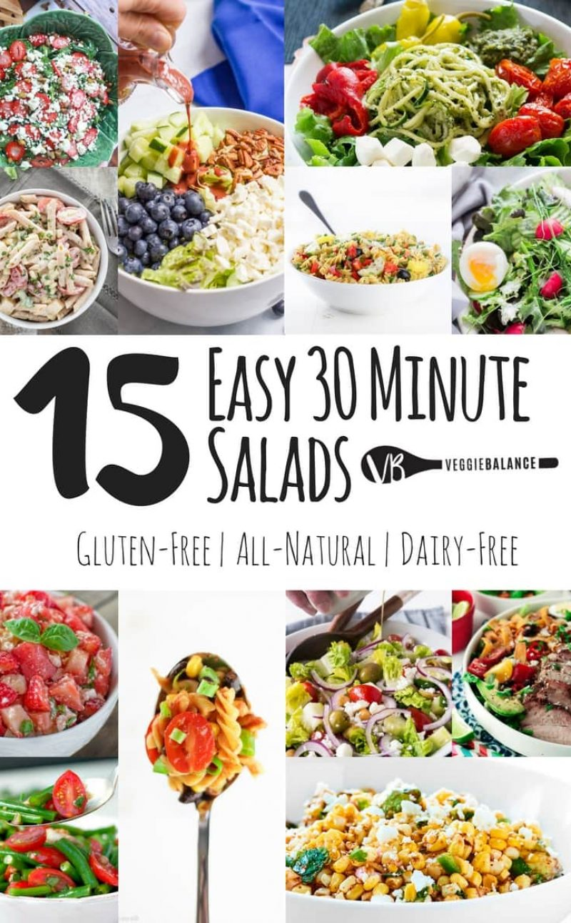 15 Easy Under 30 Minute Salads