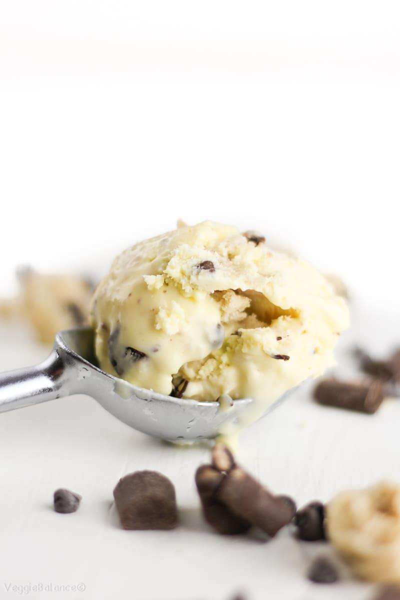 Gluten-Free Chocolate Chip Cookie Dough Ice Cream - Veggie Balance