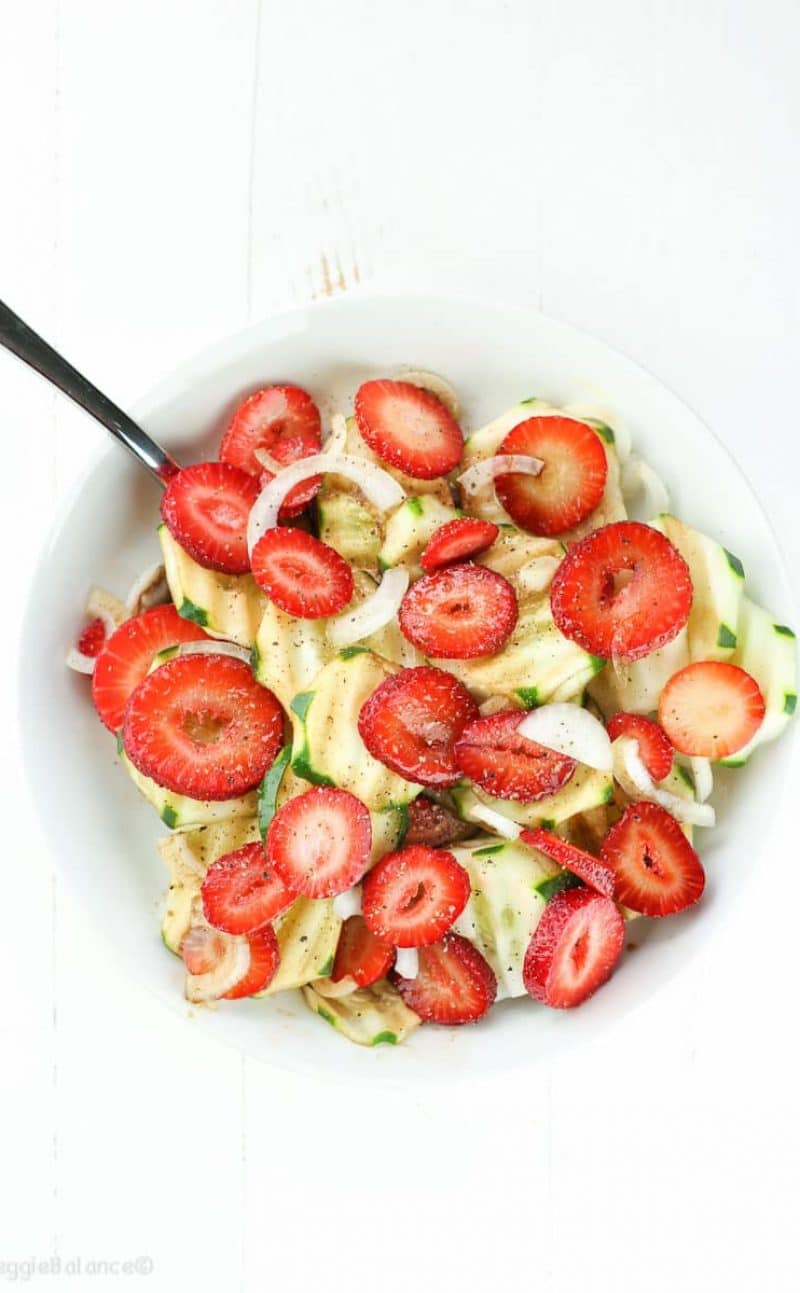 Strawberry Cucumber Salad with Balsamic Dressing