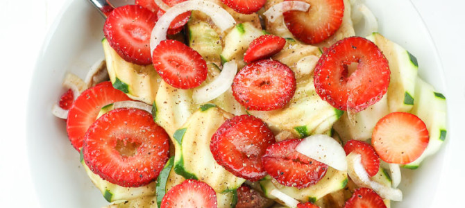 Easy Strawberry Cucumber Salad with Balsamic Dressing