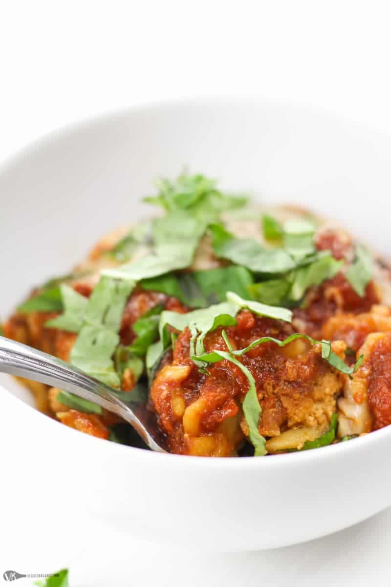 Crockpot Lasagna Recipe - Veggiebalance.com