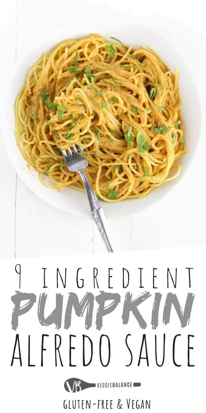 Pumpkin Alfredo Sauce recipe made with 9-Ingredients including fresh sage from the garden. Made in less than 20 minutes for 100% satisfaction of those pumpkin cravings!