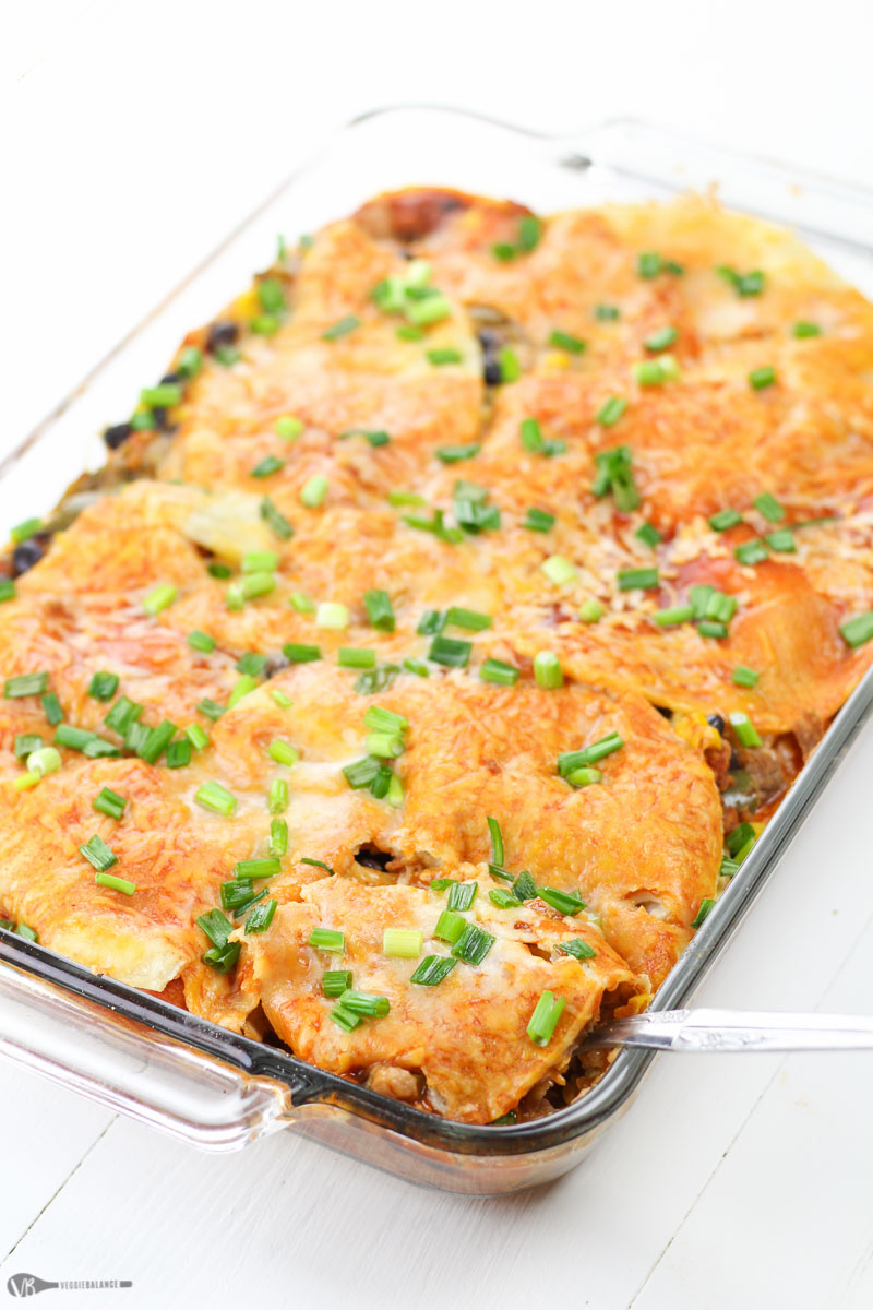 Sweet Potato Mexican Lasagna recipe made healthy, gluten-free, dairy-free and vegetarian friendly.