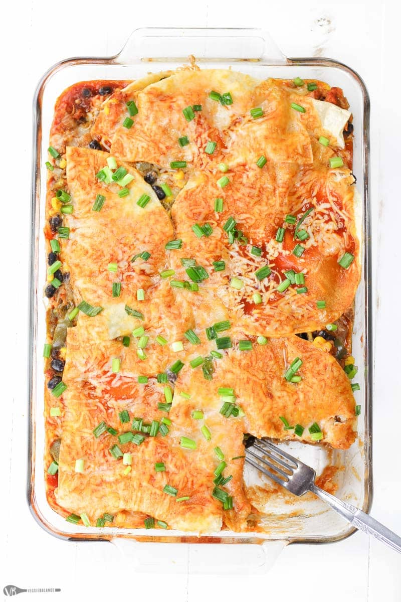 Sweet Potato Mexican Lasagna recipe - Veggiebalance.com