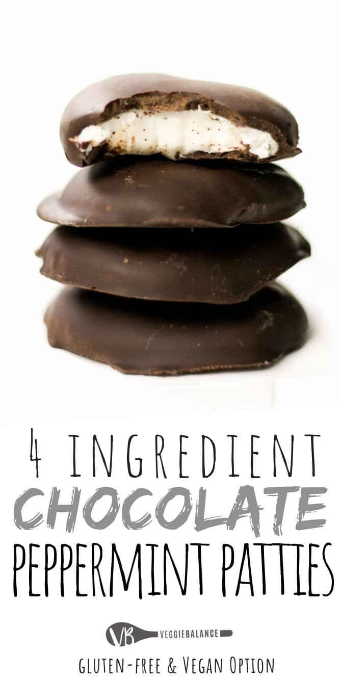 Peppermint Patty recipe made so easy with only 4-Ingredients. An all-natural, no-bake peppermint patty with simple ingredients plus all that peppermint chocolate flavor you love and can't stop eating. (Gluten Free, Dairy Free & Vegan)