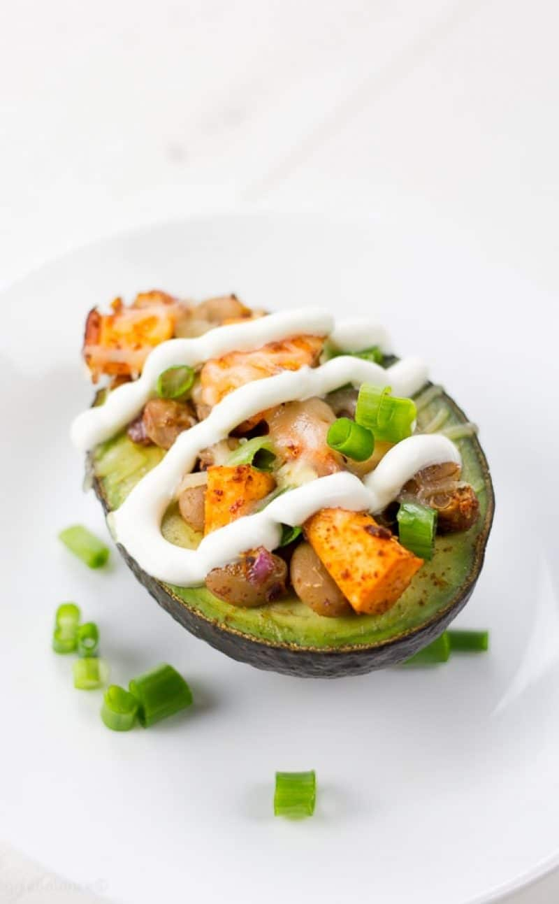 Stuffed Avocado Taco Bowls with Sweet Potato