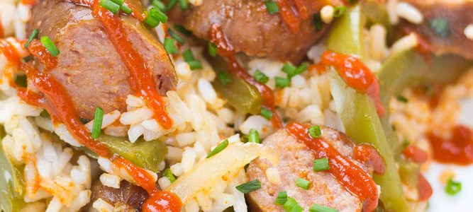 Slow Cooker Sausage and Peppers (Gluten Free)