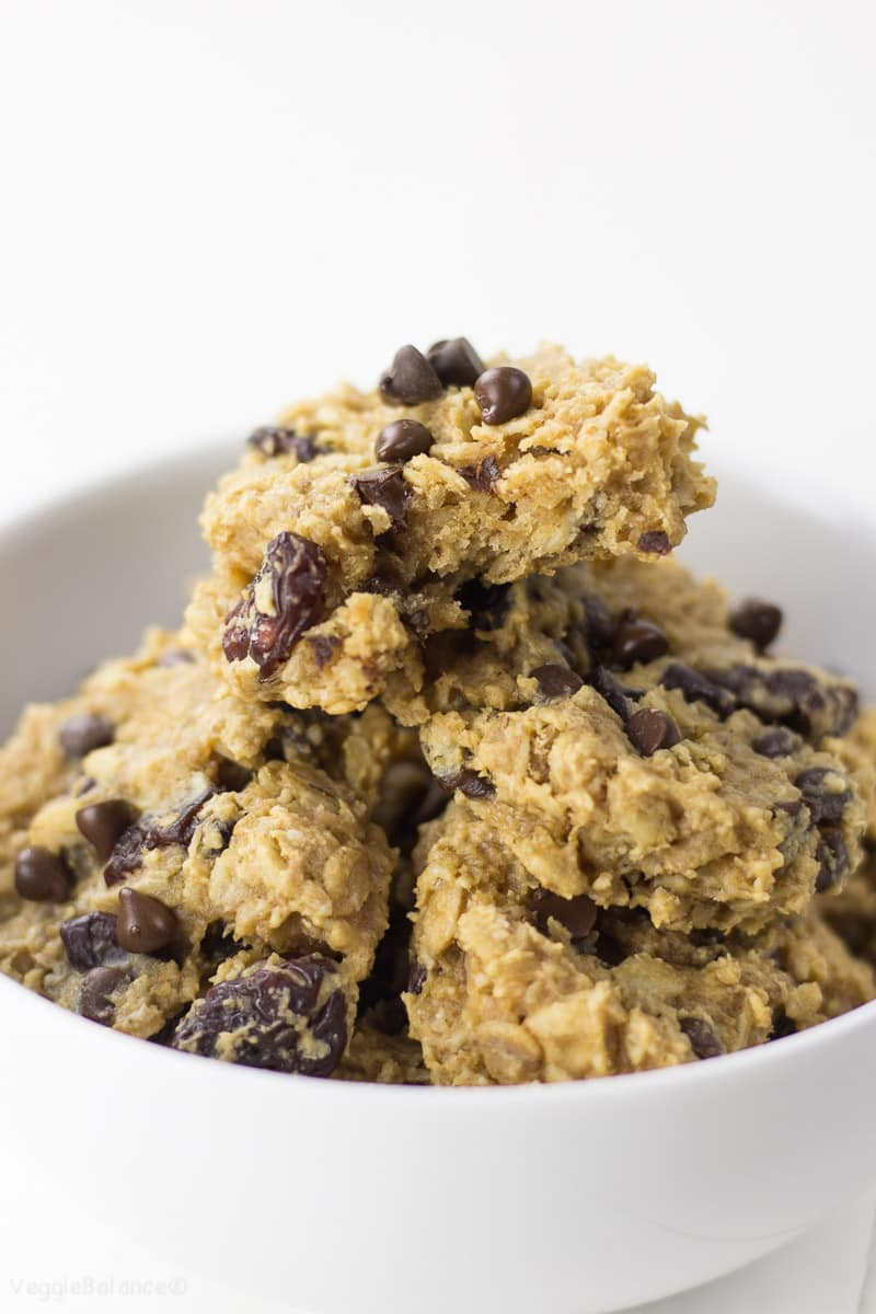 Chocolate Cherry Breakfast Cookies recipe - Veggiebalance.com