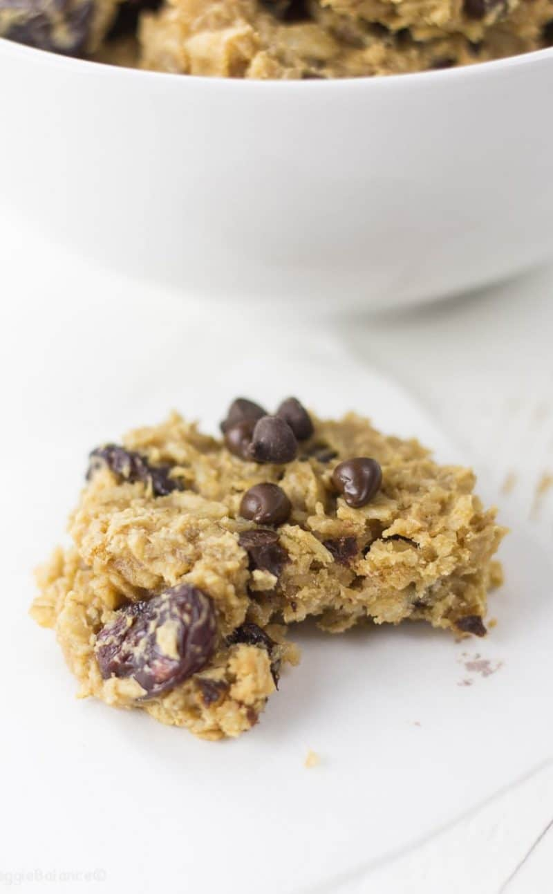 Chocolate Cherry Oatmeal Breakfast Cookies