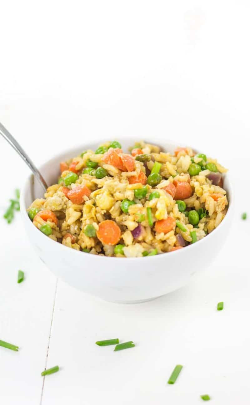Vegetable Fried Rice (Gluten Free, Healthy)