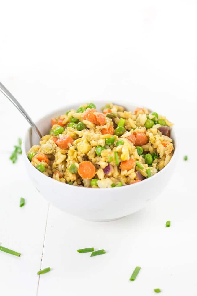 Vegetable Fried Rice made easy - Veggiebalance.com