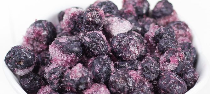 Baking with Frozen Blueberries (Minus the Blue Batter)