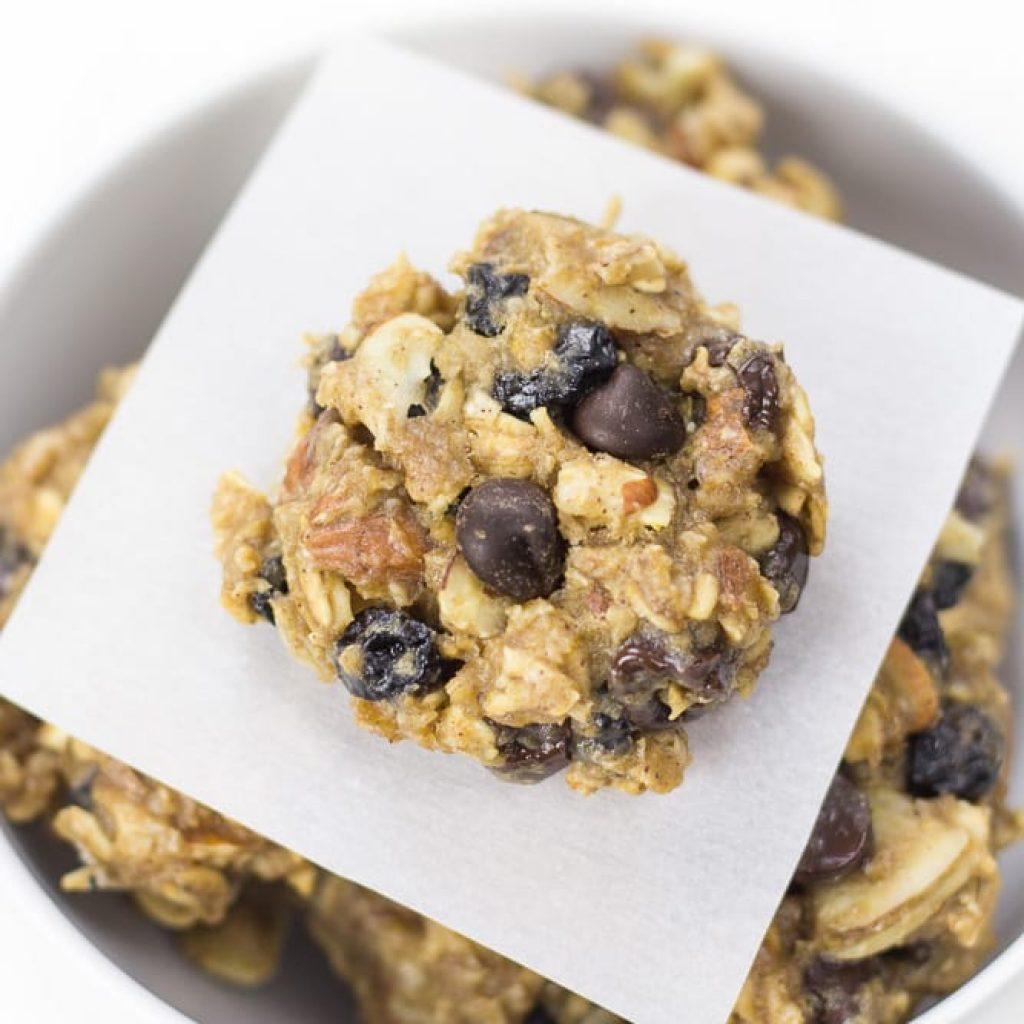Healthy Blueberry Breakfast Cookies