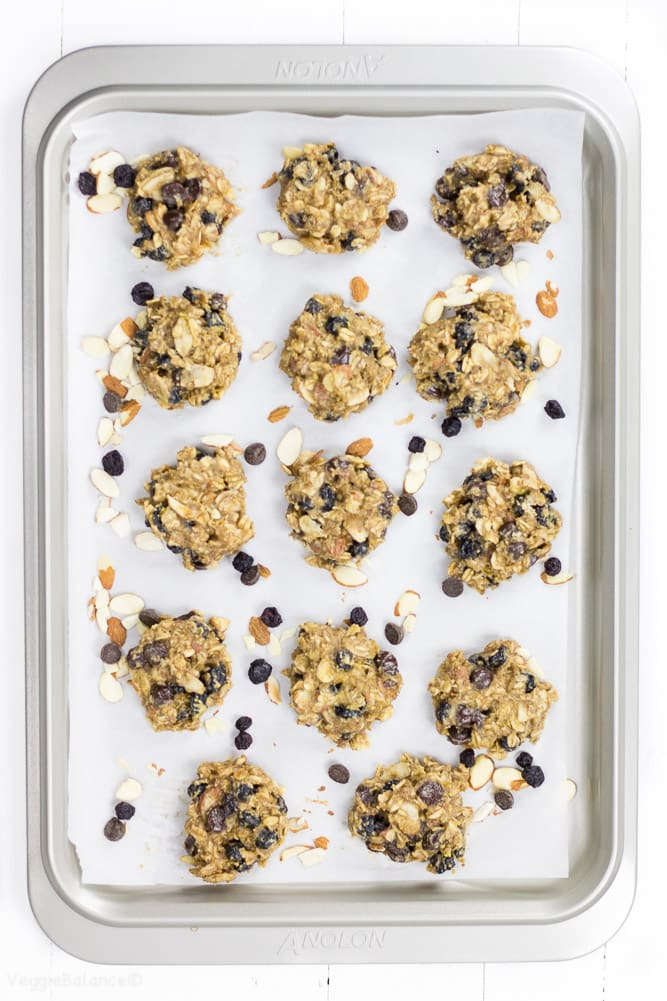 Blueberry Breakfast Cookies healthy and Gluten Free - Veggiebalance.com
