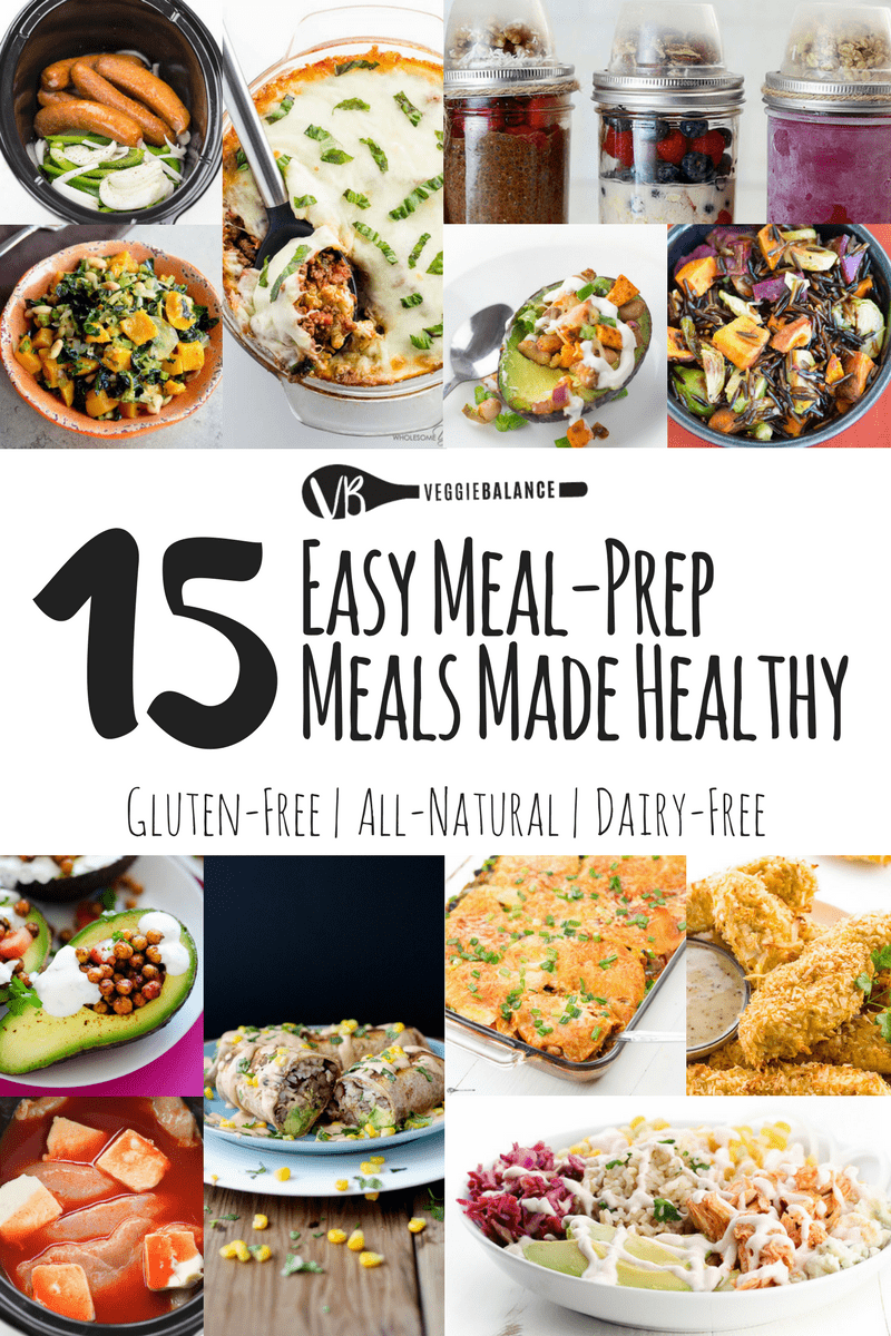 15 Easy Meal Prep Meal to keep eating healthier! A recipe compilation to make those weeknights meals that much easier to get through. All gluten-free meals, some dairy-free and vegan, but no doubt, every single dish is out of this world easy and delicious.