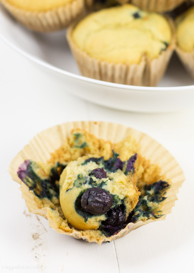 Healthy Blueberry Muffins easy to make with the bonus of being gluten free. Similar to our very popular blueberry muffin recipe but without the almond flour. Moist, fluffy and packed with blueberries. You've asked for it, we created it! (Gluten Free, Dairy Free, Vegan)