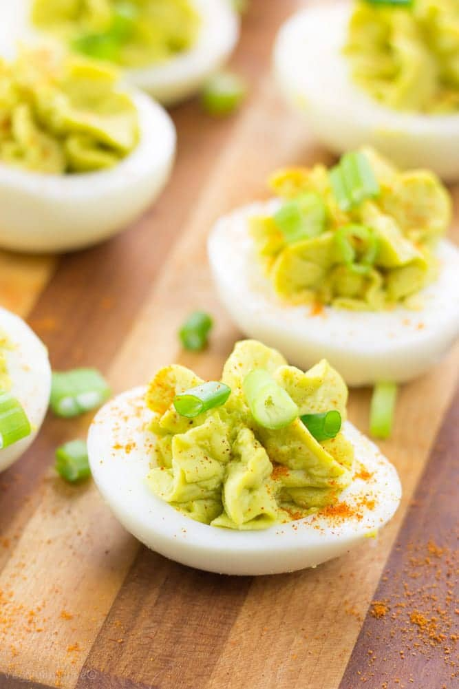 Healthy Deviled Eggs - Veggiebalance.com