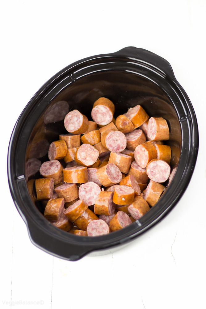 Slow Cooker Sweet BBQ Cocktail Sausages are a super easy and delicious appetizer you can whip together quickly for an epic get-together dish with just 3 ingredients. (Gluten Free, Dairy Free)
