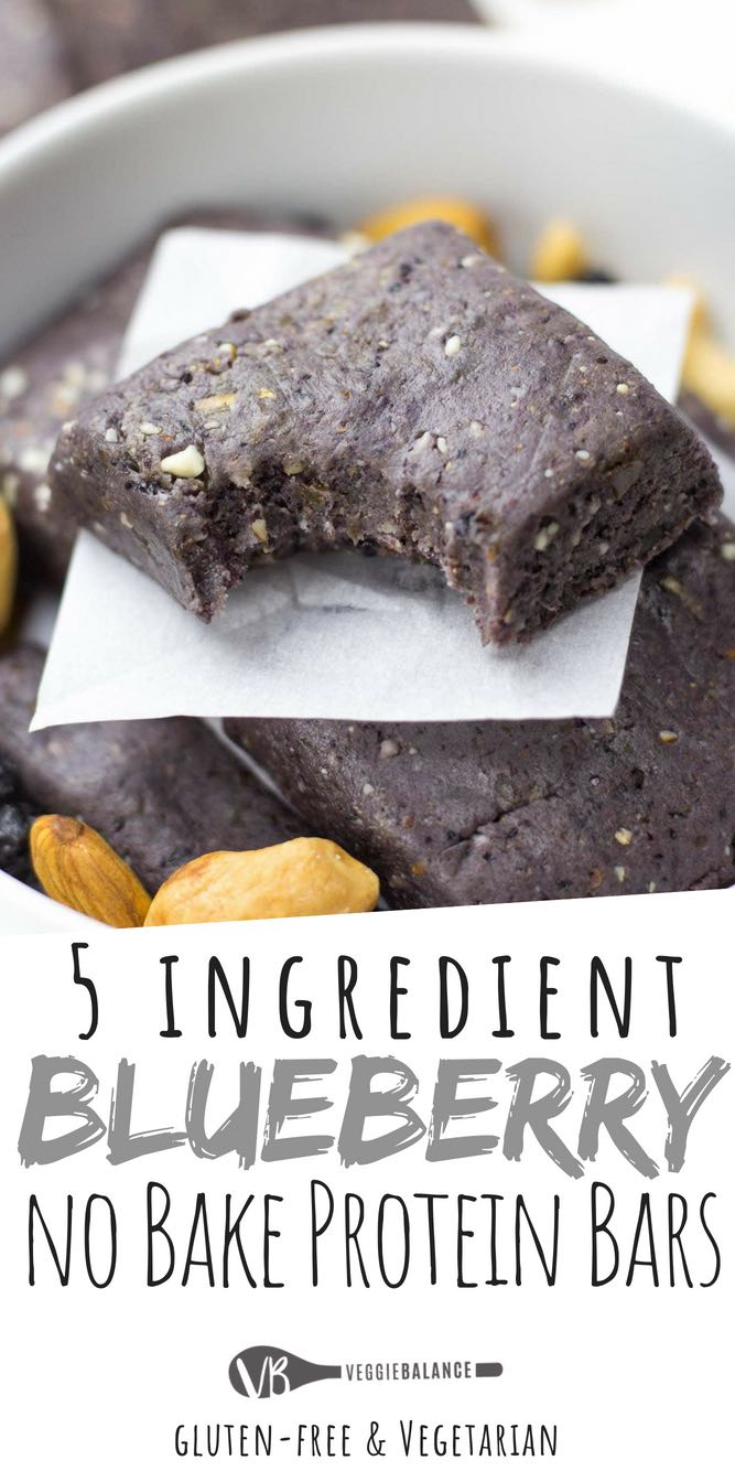 No Bake Protein Bars are super simple and the perfect copycat recipe for those delicious RX Bars. The ultimate combination of protein-packed blueberry muffin flavor. Haven't had a Blueberry RX bar yet? No need to buy to try, here is your chance for a homemade healthy, no-bake protein bar option.