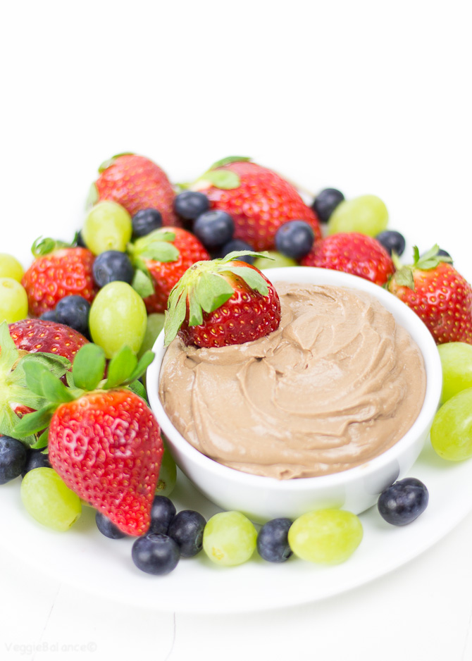 Fruit Dip will take you and your guests on a tasty trip. Only 4 ingredients to make this chocolatey, healthy and allergy sufferer friendly fruit dip. (Gluten Free, Dairy Free, Vegan, Peanut Free)