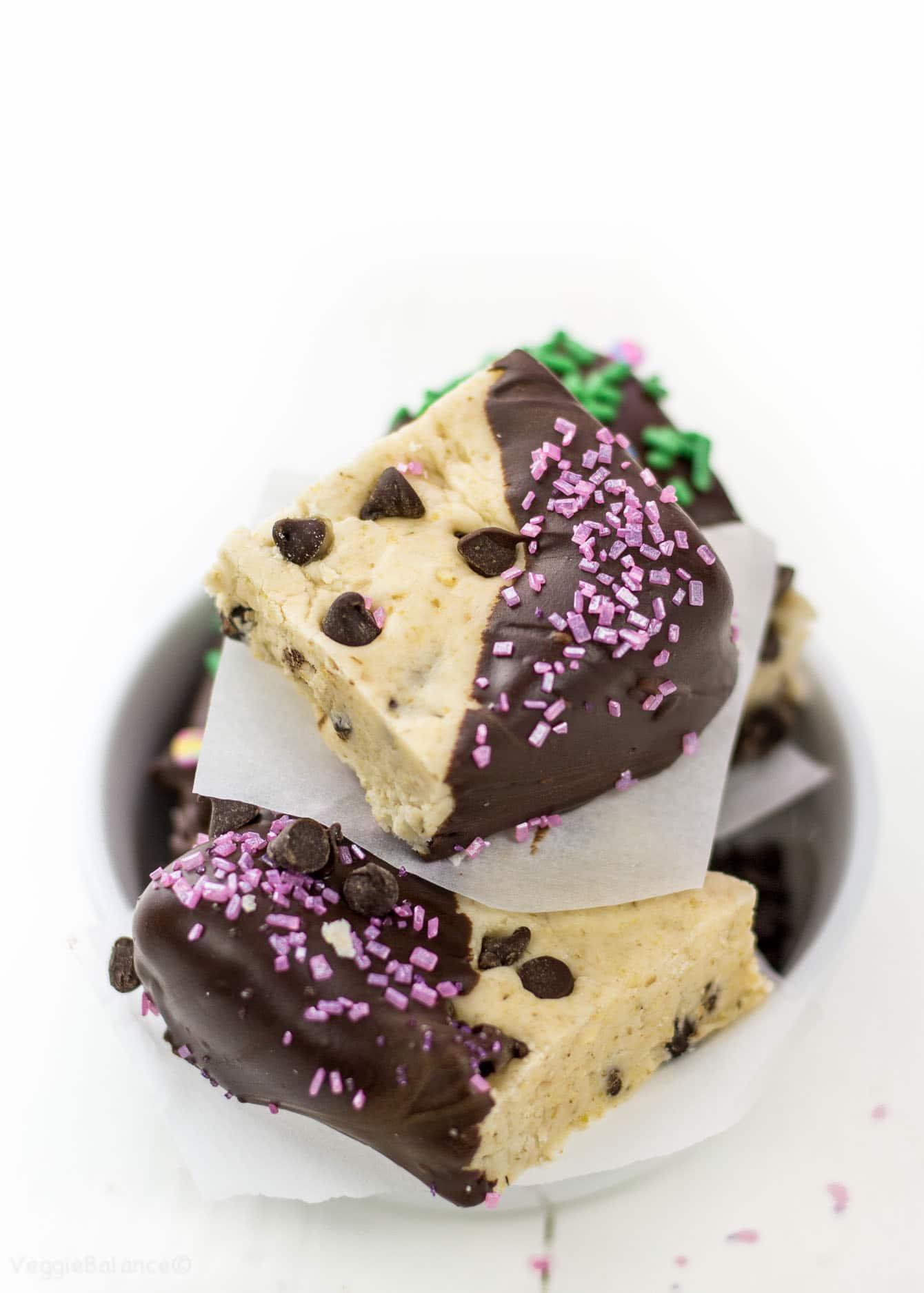 Edible Cookie Dough Bites Gluten-Free, Dairy-Free, Vegan - Veggiebalance.com