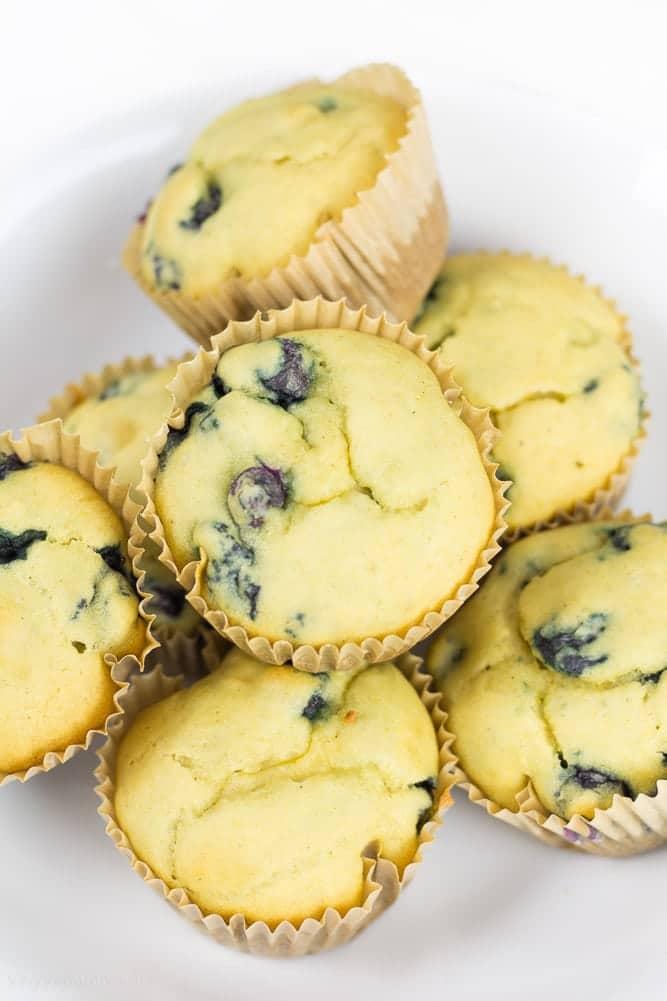 Healthy Blueberry Muffins  Gluten Free, Dairy Free, Vegan - Veggiebalance.com