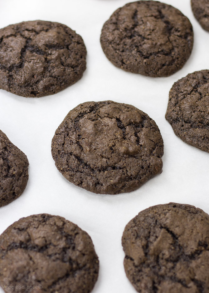 One Bowl Double Chocolate Chip Cookies Gluten Free, Dairy Free - Veggiebalance.com
