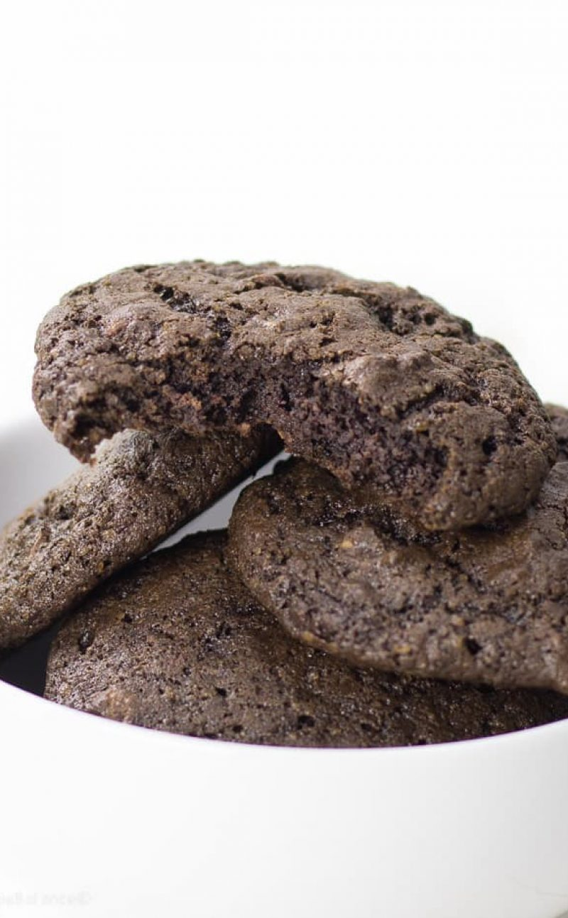 One Bowl Double Chocolate Chip Cookies