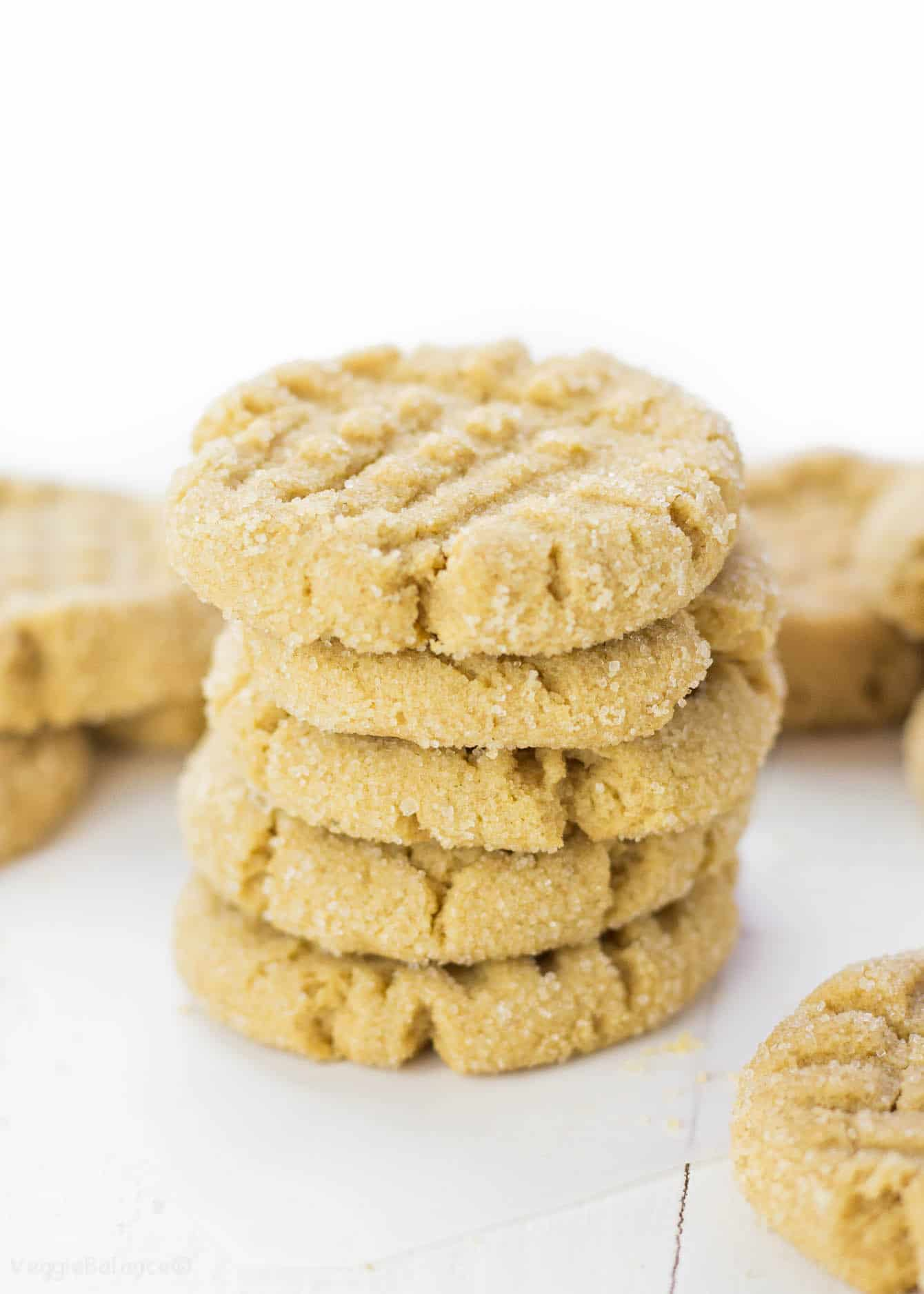 Gluten Free Peanut Butter Cookies that are the real deal. Packed full of peanut butter flavor and perfectly mimicking the classic peanut butter cookie you grew up loving. (Gluten Free, Dairy Free, Vegan Friendly)