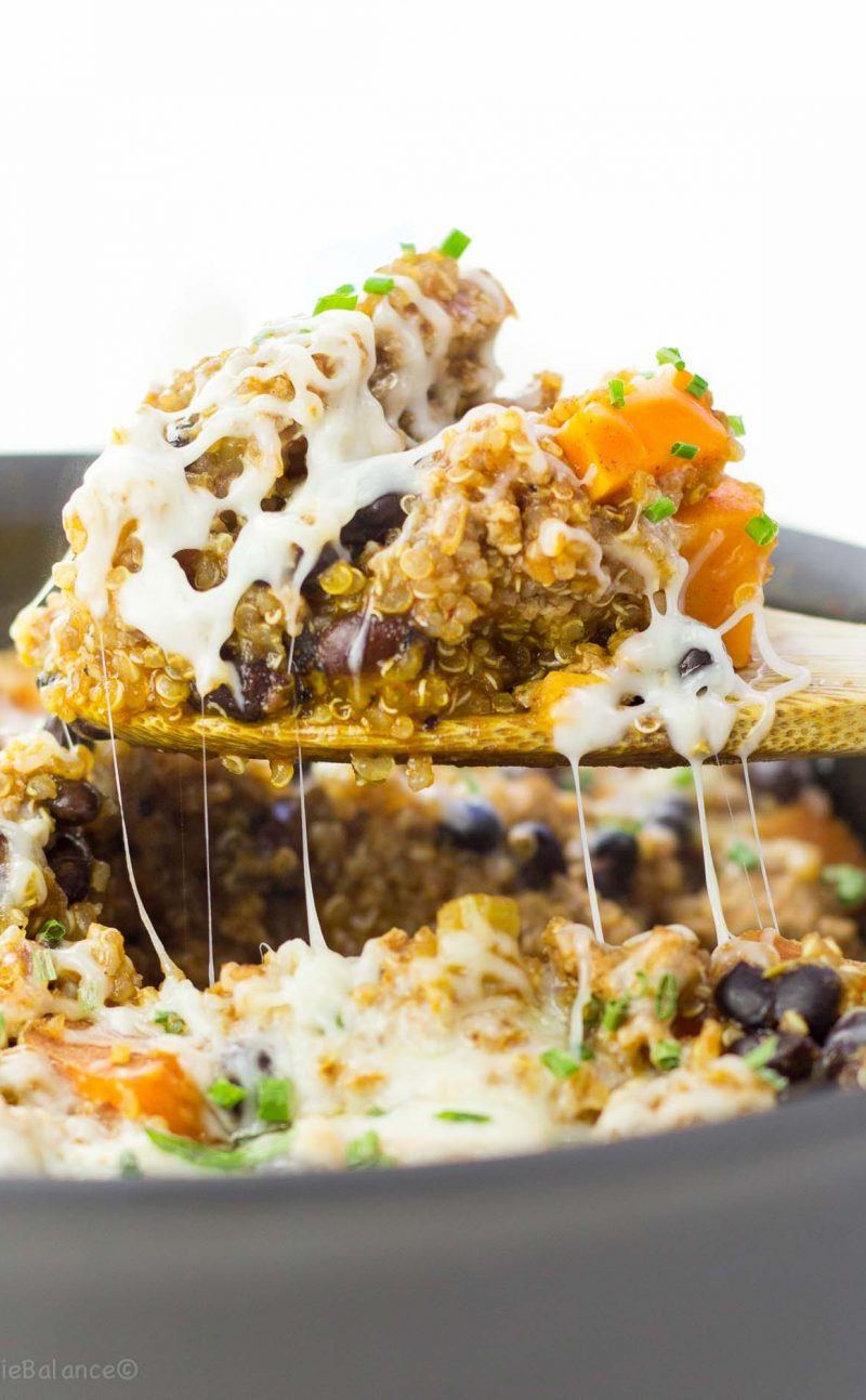 One Pan Quinoa Enchilada