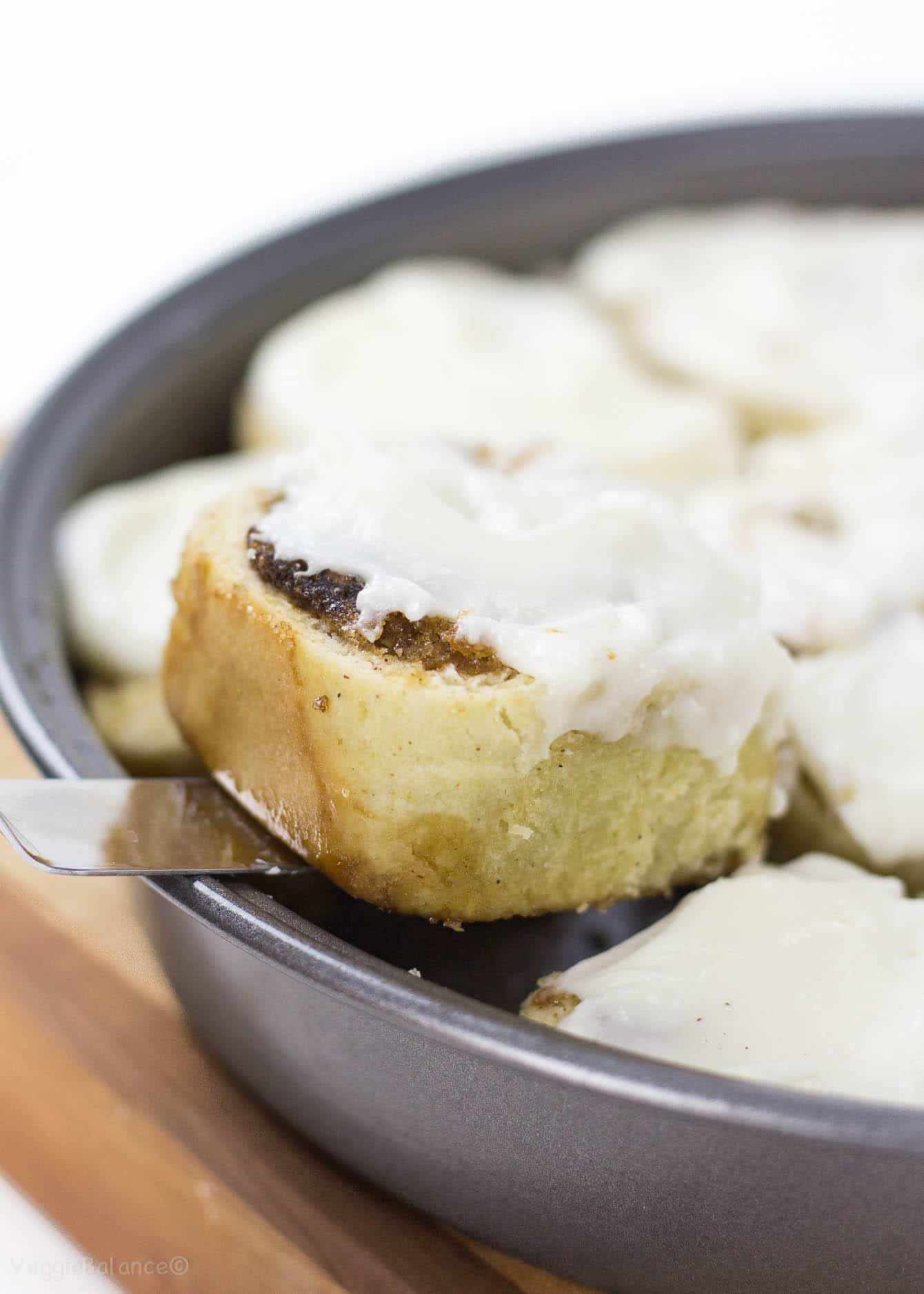 Gluten Free Cinnamon rolls made with no yeast will make your weekend breakfast easier and more comforting than ever. Can easily be prepared the night before so all you need to do on a Saturday morning is pour yourself a cup of coffee and bake those cinnamon rolls. (Gluten Free, Dairy Free)
