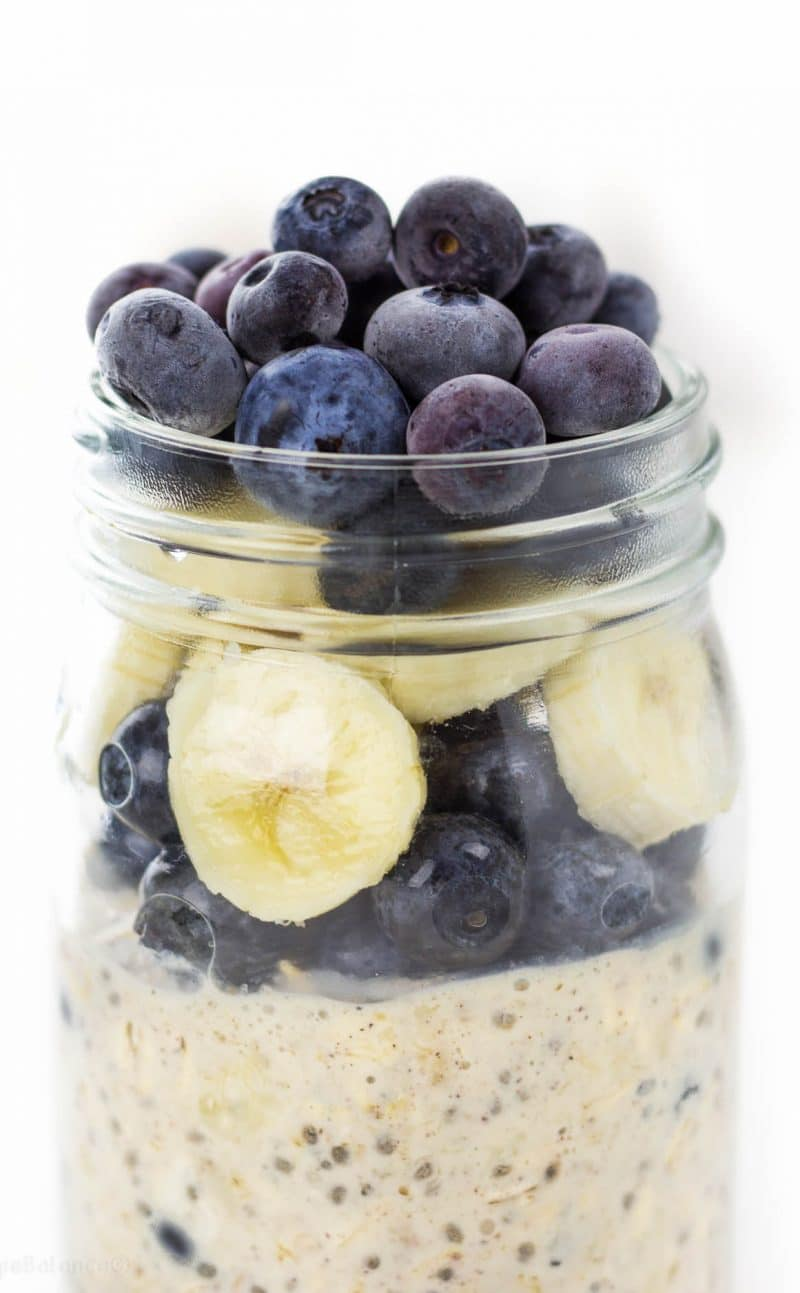 Overnight Oats Blueberry Banana