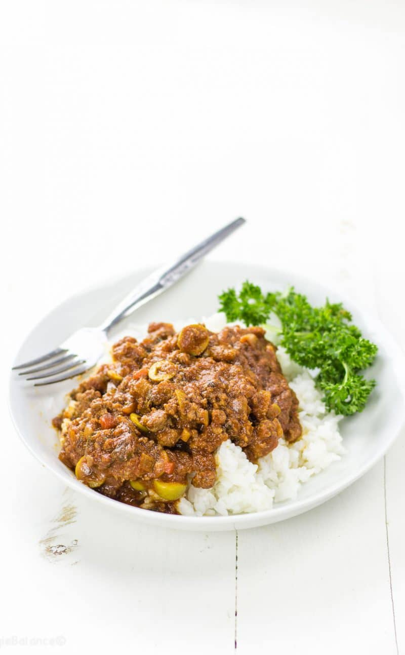 Picadillo Mexican Beef over Rice Recipe