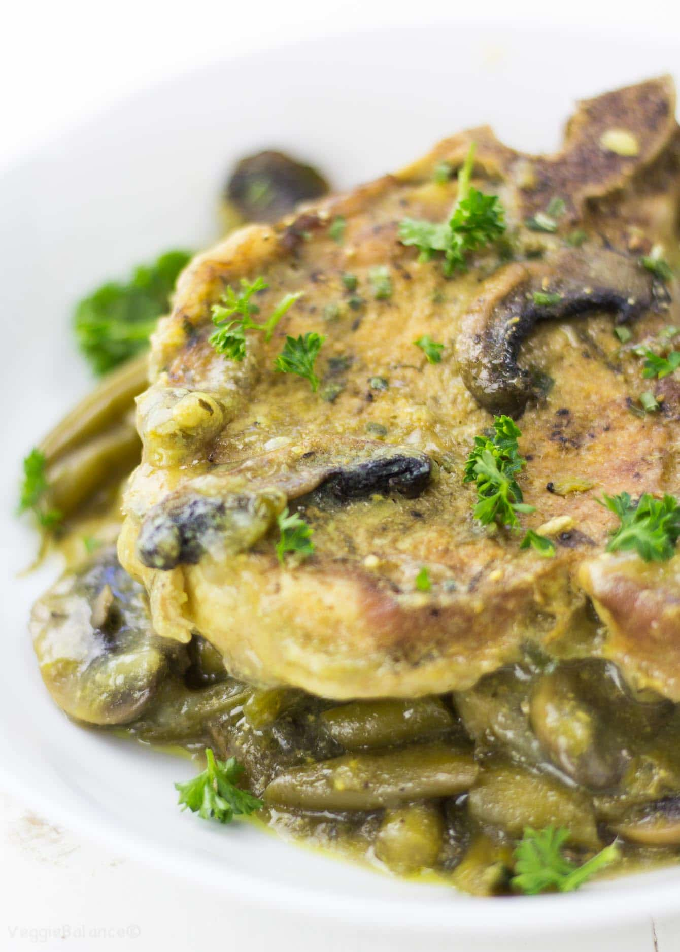 Pressure Cooker Pork Chops cooked in a honey mustard sauce. Enjoy the simplicity of 10 minutes of actual work and 30 minutes of hands-free cooking as the pressure cooker sizzles them to perfection.