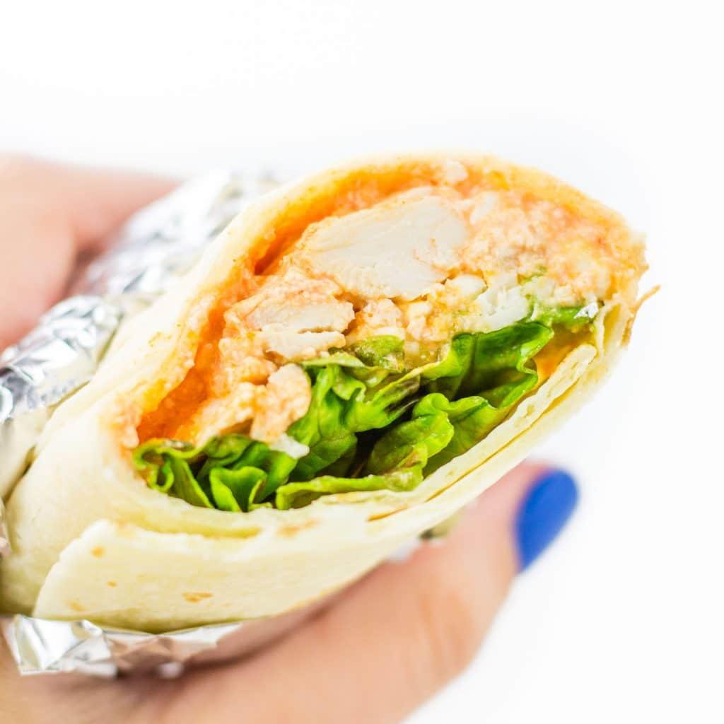 Buffalo Chicken Wraps with Avocado