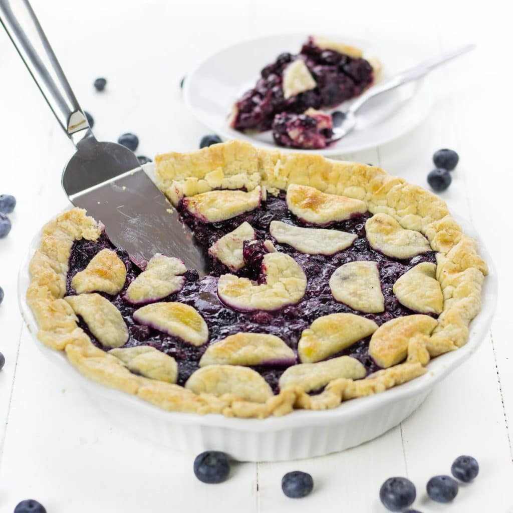 Gluten Free Pie Crust with Perfect Blueberry Pie Filling