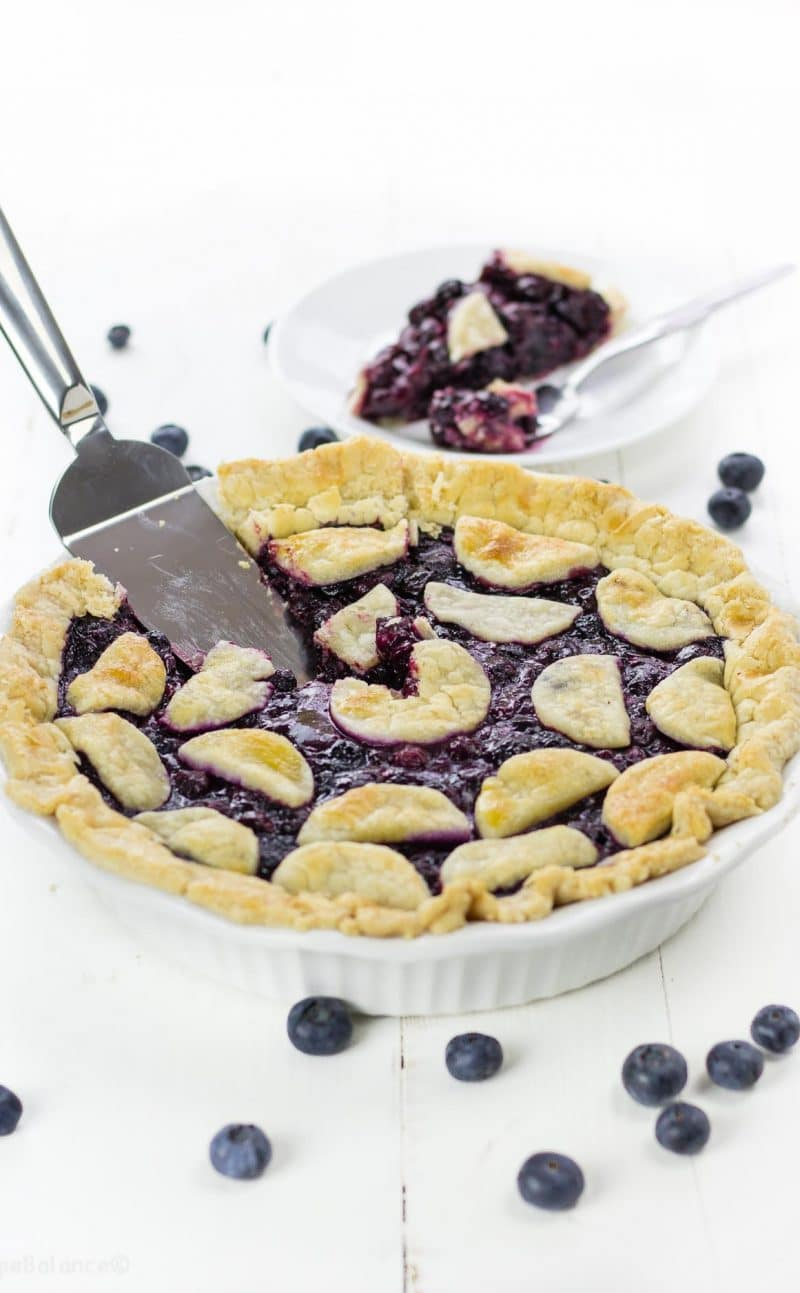 Gluten Free Pie Crust with Perfect Blueberry Pie Filling Recipe