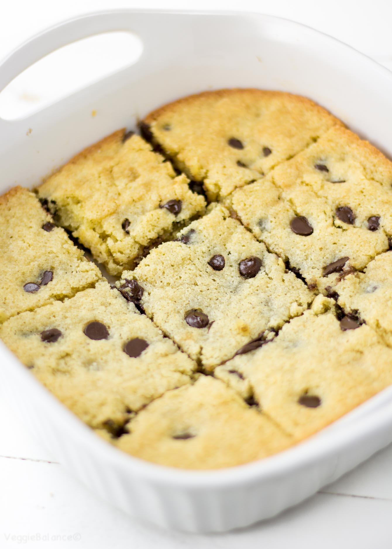 Chocolate Chip Cookie Bars (Gluten Free) - Veggie Balance