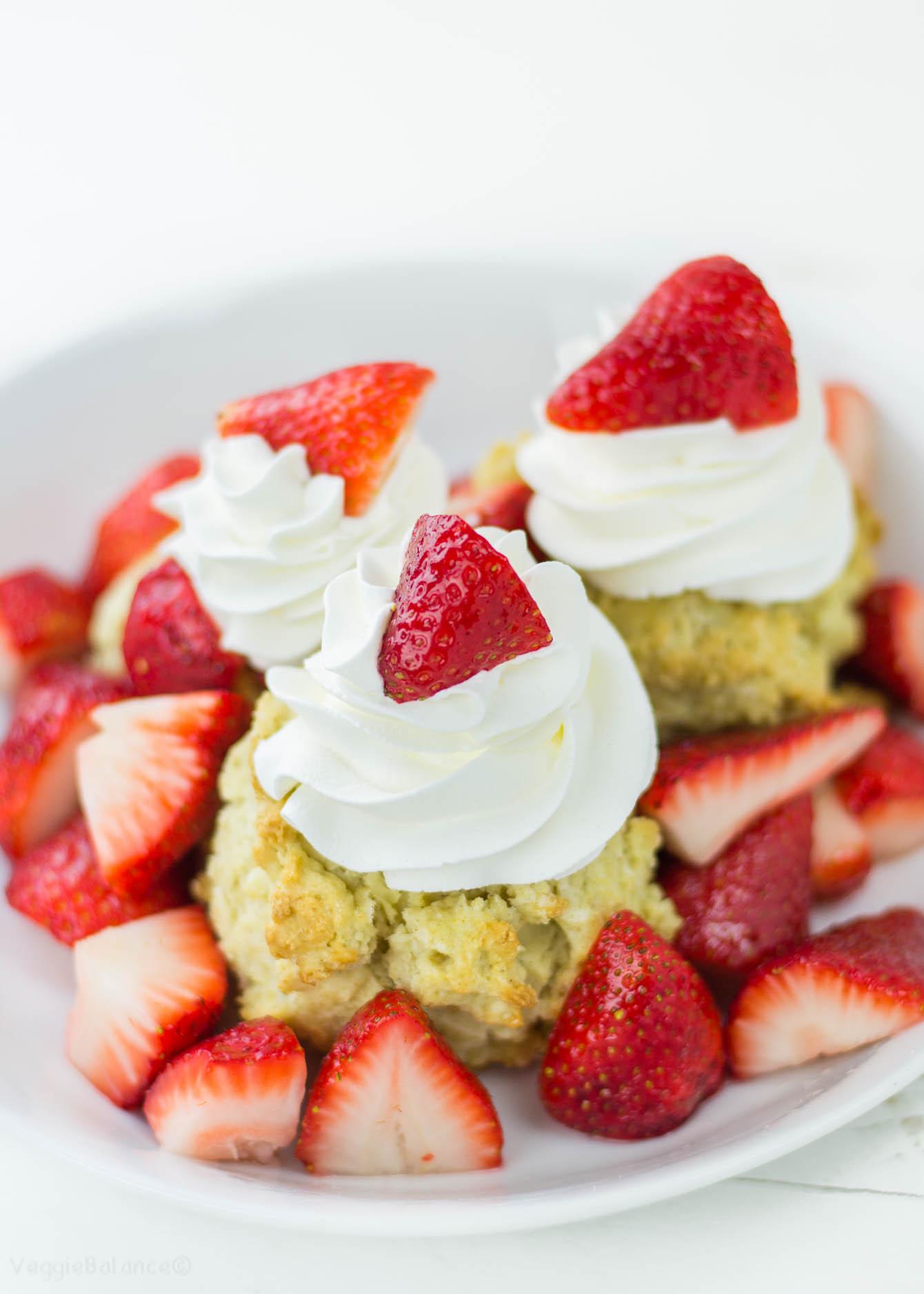 Gluten Free Strawberry Shortcake recipe Gluten Free - veggiebalance.com