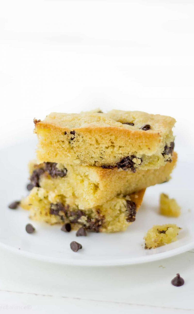 Chocolate Chip Cookie Bars (Gluten Free)