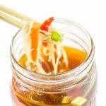 Pho Soup Made at Home in Mason Jar