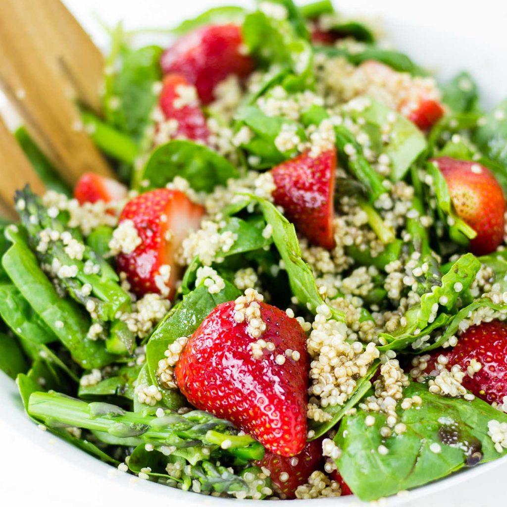 Strawberry Asparagus Quinoa Salad + New Book Giveaway