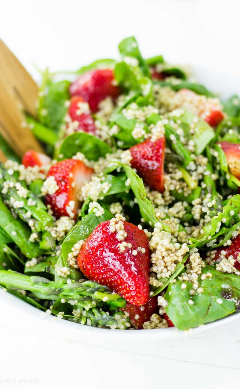 Strawberry Asparagus Quinoa Salad + New Book Giveaway