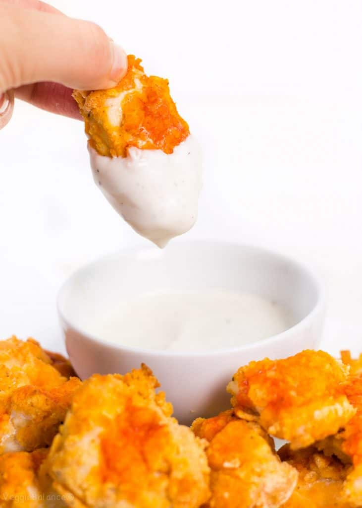Buffalo Chicken Nuggets Baked in Oven